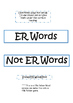 Snowy ER Word Sort