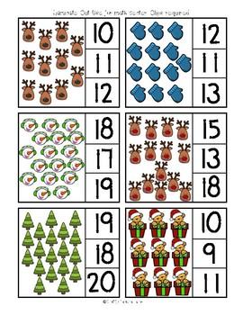 Decemeber Math / Counting 1-20 / Ten Frame Addition