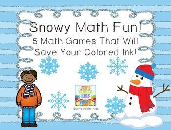 Snowy Fun ~Ink Saving Math Centers!