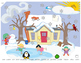 Snowy I Spy- Winter hidden object articulation worksheets for speech therapy