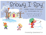 Snowy I Spy- Winter hidden object articulation worksheets