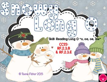 Snowy Long O - Second Grade Wonders Unit 3 Week 3 Winter Literacy Center