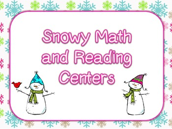 Snowy Math and Reading Centers (5 of each)