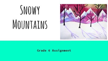 Snowy Mountains - Ready to Teach - ART - Step by Step