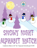 Alphabet ABC Match Game - Snowy Night