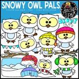 Snowy Owl Pals Clip Art Set