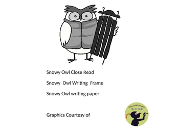 Snowy Owl close read and writing frames
