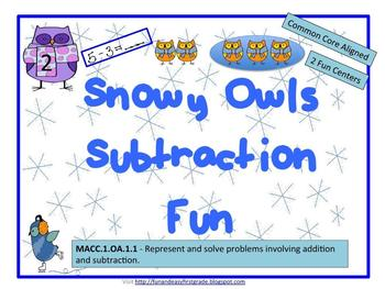 Snowy Owls Subtraction Fun! (Common Core Aligned)
