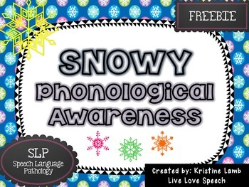 Snowy Phonological Awareness {FREEBIE}