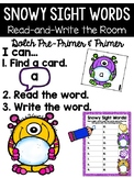 Snowy Read and Write the Room {Kindergarten}