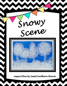 Snowy Scene Art Lesson by Sweet Southern Charm