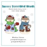 Snowy Scrambled Words - FIRST GRADE VERSION