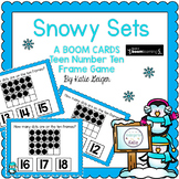 Snowy Sets BOOM CARDS Teen Numbers Ten Frame