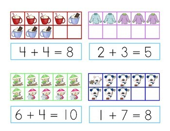 Snowy Sets and Sums {addition with ten frames}