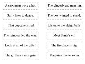 Snowy Short Vowel Sentences
