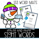 Snowy Sight Word Mats and Activities