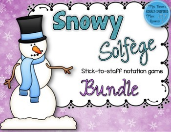 Snowy Solfege: Stick-to-Staff Notation Activities {6-Game Bundle}