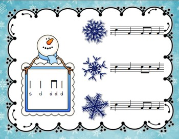 Snowy Solfege: Stick-to-Staff Notation Activities {Do}