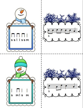 Snowy Solfege: Stick-to-Staff Notation Activities {La}