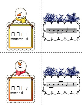 Snowy Solfege: Stick-to-Staff Notation Activities {Re}