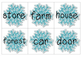 Snowy Sort~A Noun Sorting Literacy Center
