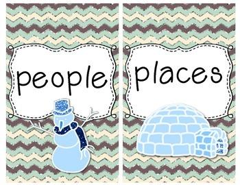 Snowy Sort~A Noun Sorting Literacy Center