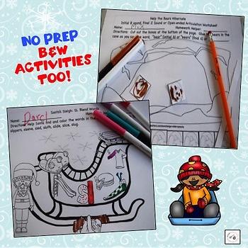 Snowy Speech: Winter-themed articulation activities & worksheets