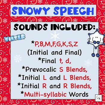 Snowy Speech: Winter-themed articulation activities & worksheets