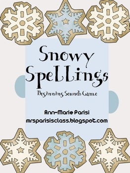 Snowy Spellings, Beginning Sounds Game