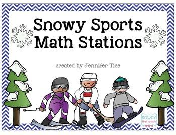 Snowy Sports Math Stations