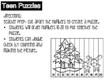 Snowy Stations! Number Sense to 20