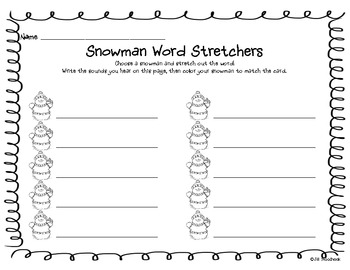 Snowy Stations literacy and math activities