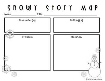 Snowy Story Map {FREEBIE!}