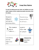 Snowy Story Starter Winter-themed Writing Prompts