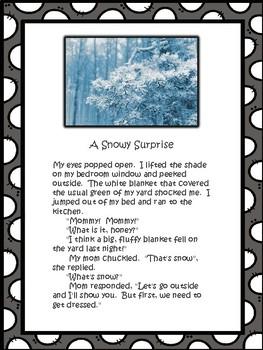 Snowy Surprise - A Memoir Exemplar