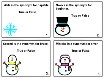 Snowy Synonyms Task Cards/Scoot Game