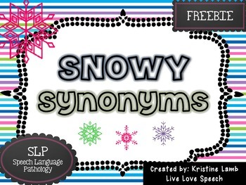 Snowy Synonyms {FREEBIE}