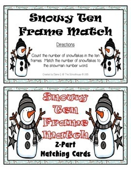 Snow Ten Frame Matching Cards