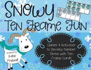 Winter Ten Frame Centers, Games, & Activities