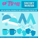 Snowy Winter Clip Art (Digital Use Ok!)
