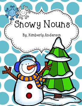 Snowy Winter Nouns Sort Practice