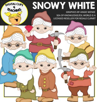 Snowy White {Digital Clips 4 Teaching}