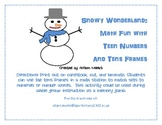 Snowy Wonderland: Using Tens Frames to Match Teen Numbers to Sets