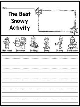 Snowy Writing Freebie