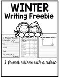 Snowy Writing Freebie