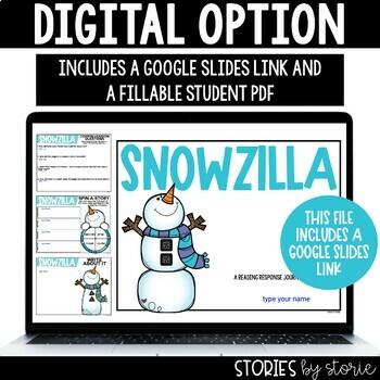 Snowzilla (Book Questions, Vocabulary, & Winter Kid Craft)