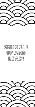 Snuggle Up and Read Bookmark!