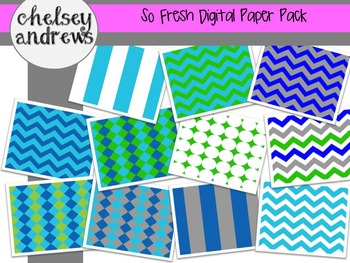 So Fresh Multi-Pattern Digital Papers {Personal and Commercial Use}