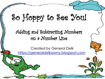 So Hoppy to See You!- Adding and Subtracting on a Number Line