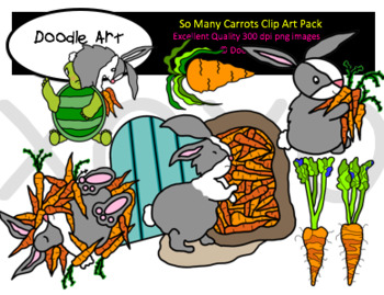 So Many Carrots Clipart Pack